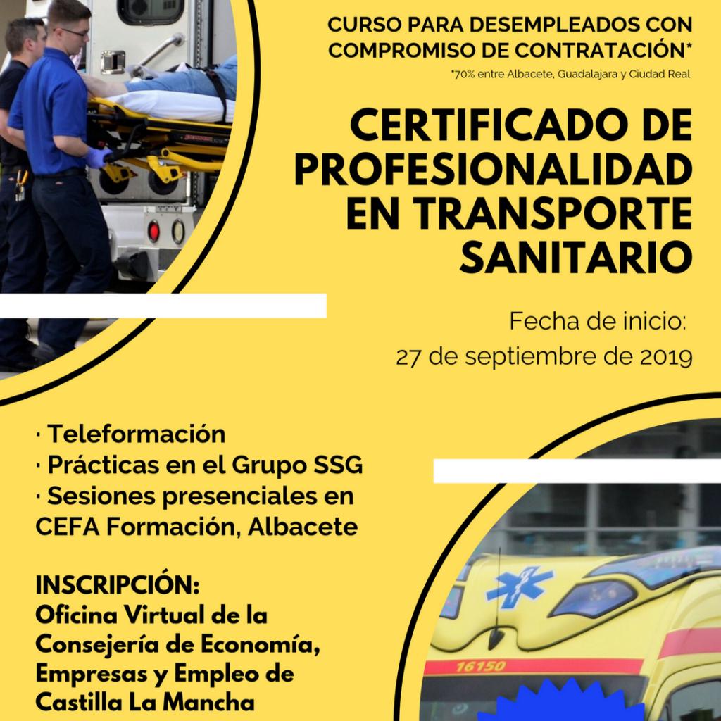 programa de obtención del título de transporte sanitario
